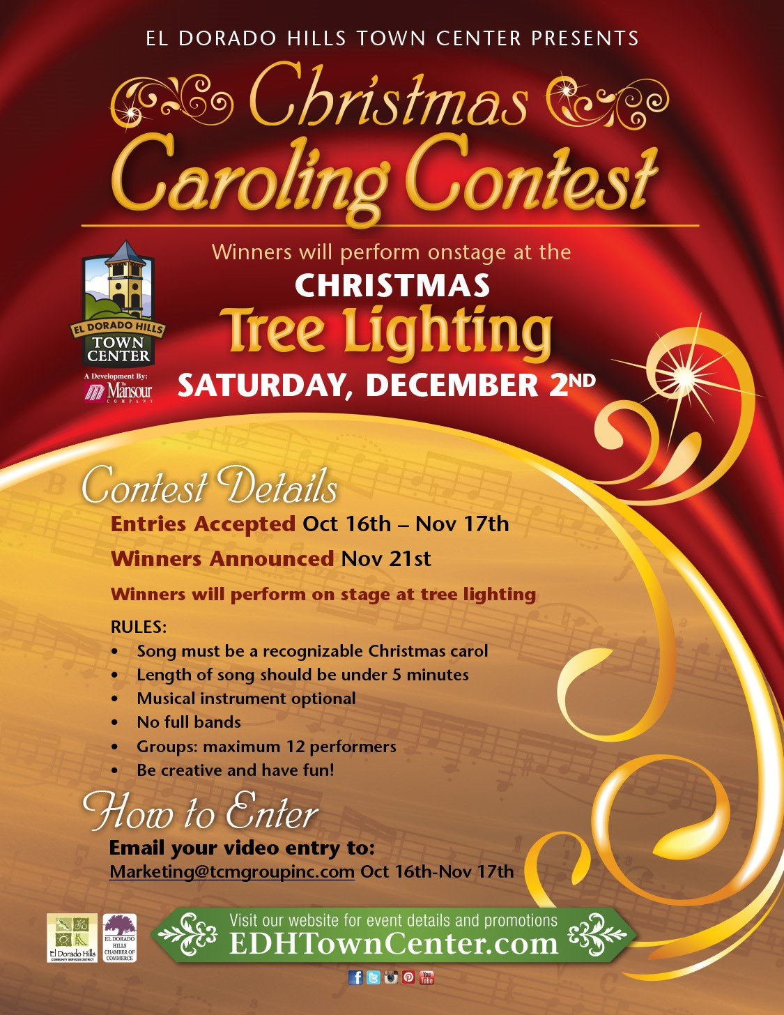 EDHTC Caroling Contest 2017 Flyer